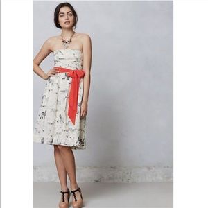 Anthropologie Fetch and Frolic Dog Print Bow Dress